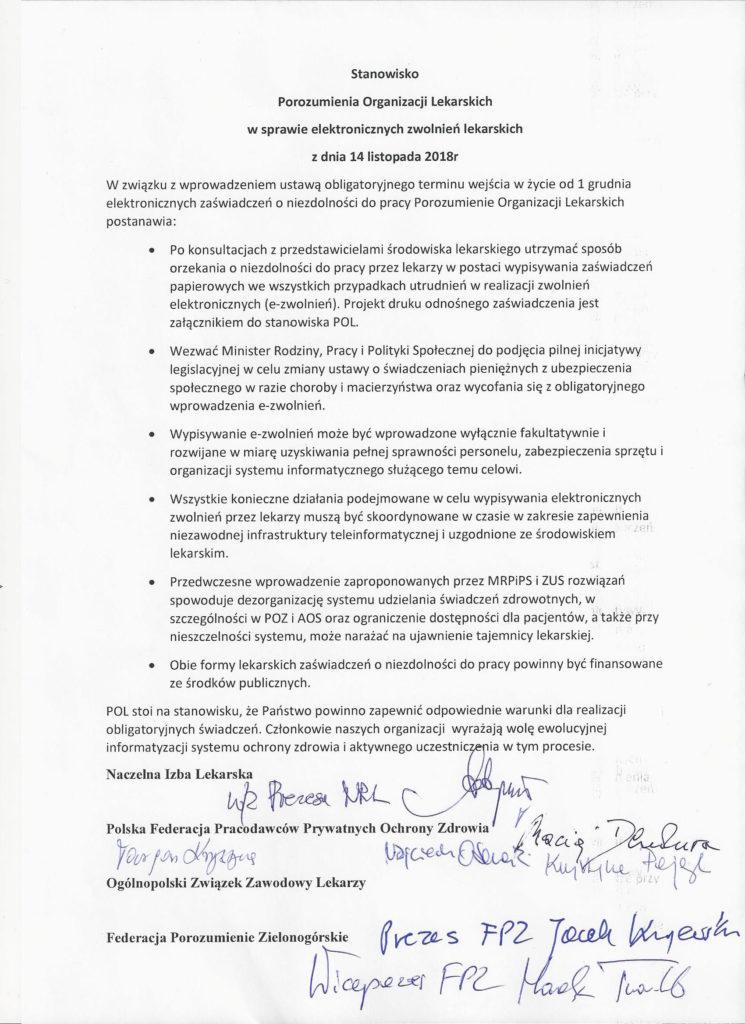 Nie dopuścimy do chaosu z wystawianiem zwolnień lekarskich_Porozumienie Łódzkie