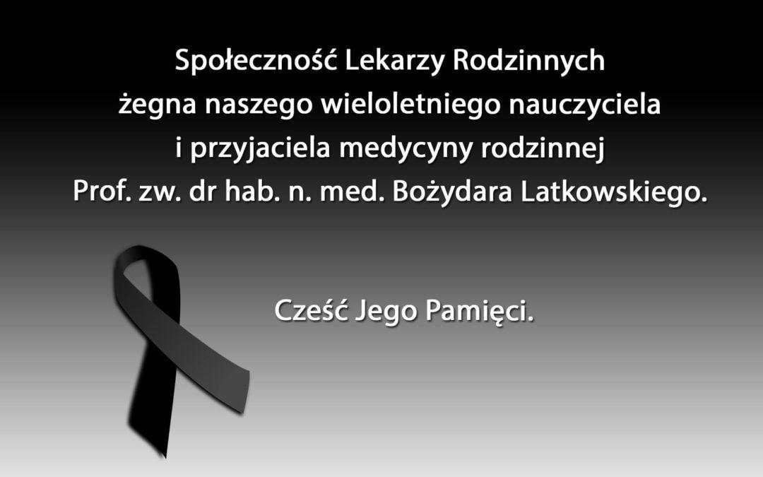Pożegnanie dr hab. n. med. Bożydara Latkowskiego