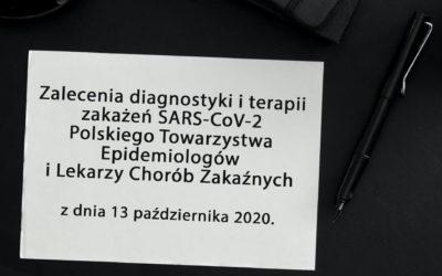 Zalecenia diagnostyki i terapii zakażeń SARS-CoV-2 Polskiego Towarzystwa Epidemiologów i Lekarzy Chorób Zakaźnych