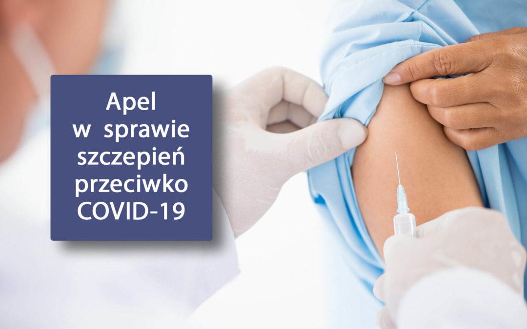 Apel w sprawie szczepień przeciwko COVID-19